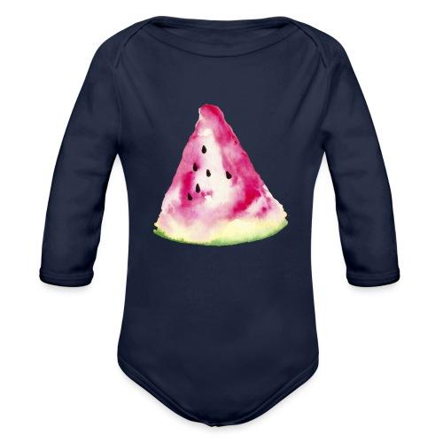 Wassermelone - Organic Longsleeve Baby Bodysuit