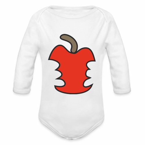 Apfel angebissen - Baby Bio-Langarm-Body