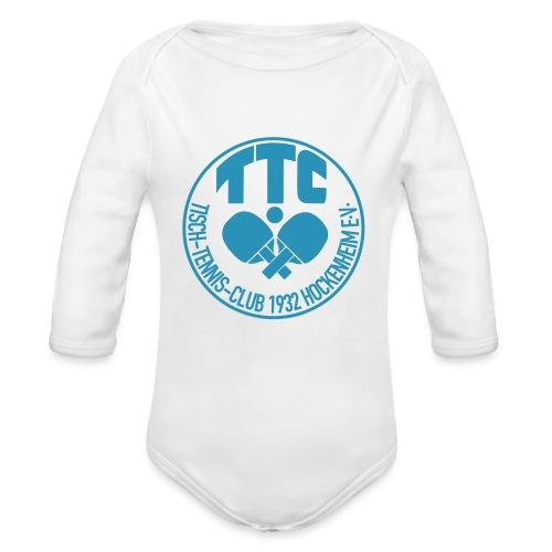 TTC Hockenheim Wappen - Baby Bio-Langarm-Body