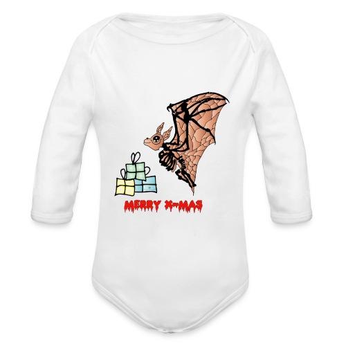 Merry X-MAS - Baby Bio-Langarm-Body