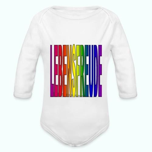 lebensfreude regenbogenfarben - Baby Bio-Langarm-Body