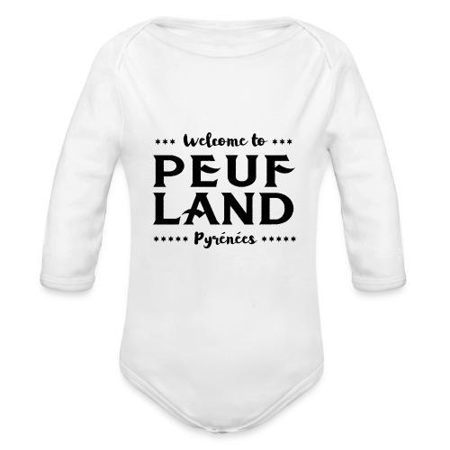 Peuf Land Pyrénées - Black - Body Bébé bio manches longues