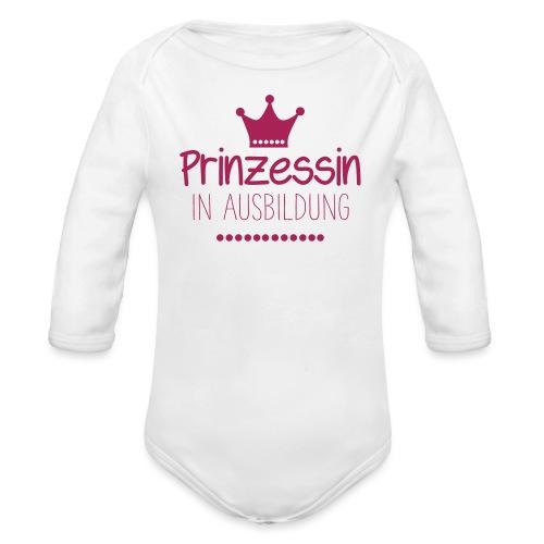 Prinzession in Ausbildung - Baby Bio-Langarm-Body