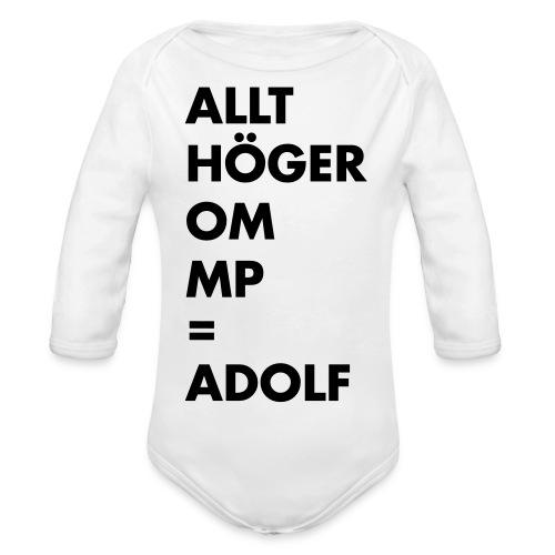 Allt höger om MP = Adolf - Ekologisk långärmad babybody