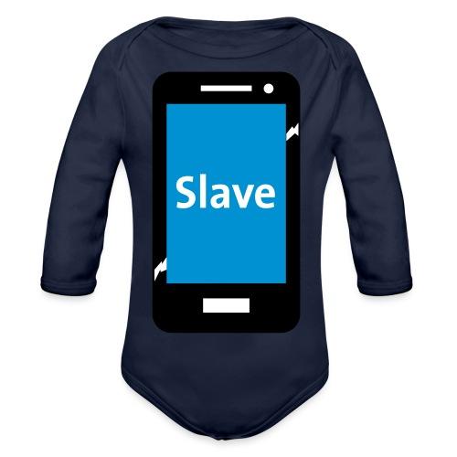 Slave to my phone 1 - Baby bio-rompertje met lange mouwen