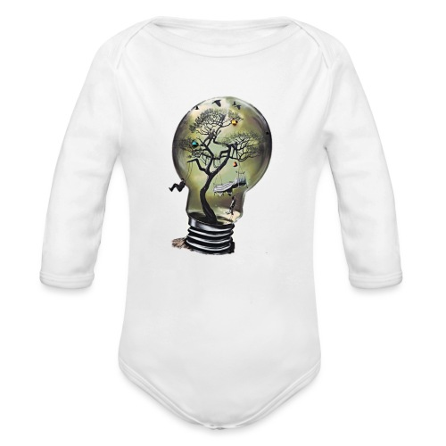 Light Bulb - Baby Bio-Langarm-Body