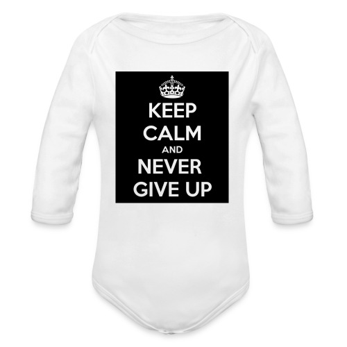 wpid-keep-calm-and-never-give-up-93 - Ekologisk långärmad babybody