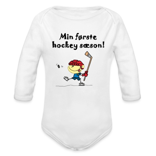 min første sæson png - Organic Longsleeve Baby Bodysuit