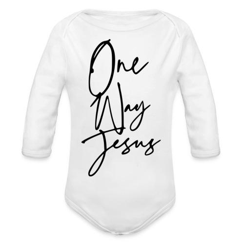 one way jesus - Body orgánico de manga larga para bebé