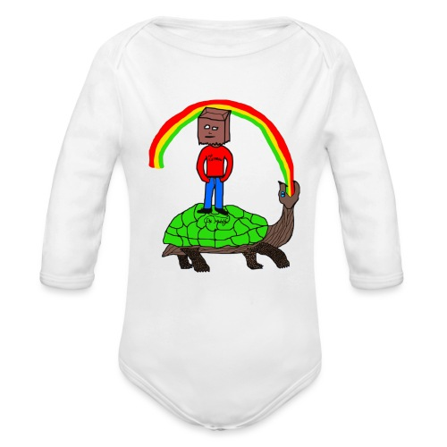 schildkröte Schildkröte Regenbogen - Baby Bio-Langarm-Body
