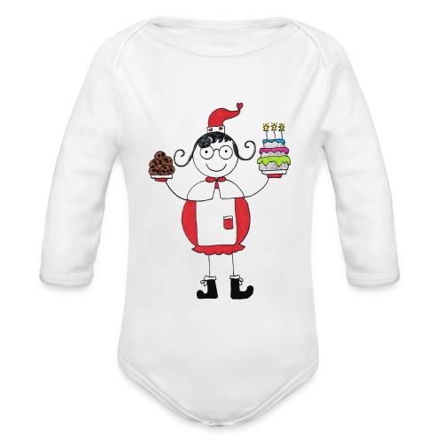 Mamma Natale di Nonna Catia - Body ecologico per neonato a manica lunga