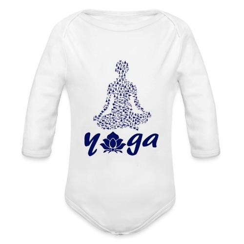 yoga fiore namaste pace amore hippie arte fitness - Body ecologico per neonato a manica lunga