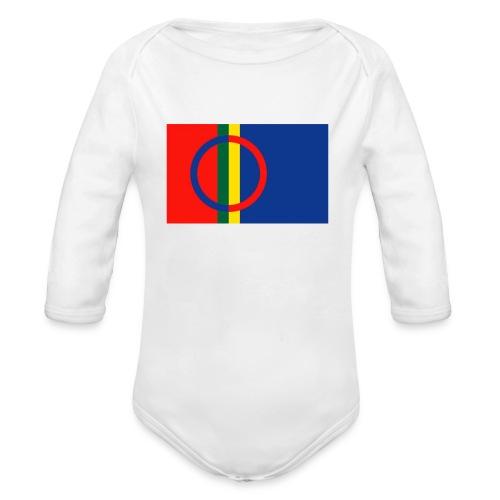 Samiska flaggan - Ekologisk långärmad babybody