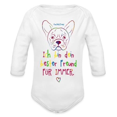 Bester Freund Frenchie - Französische Bulldogge - Baby Bio-Langarm-Body