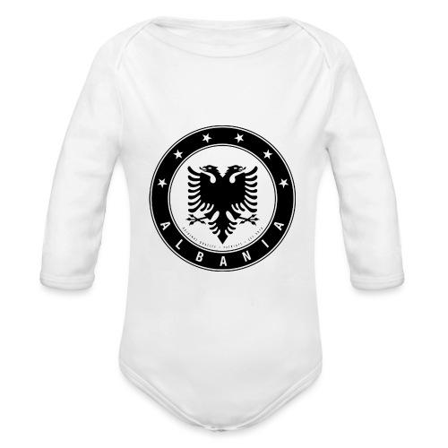 Patrioti Albania Black - Baby Bio-Langarm-Body