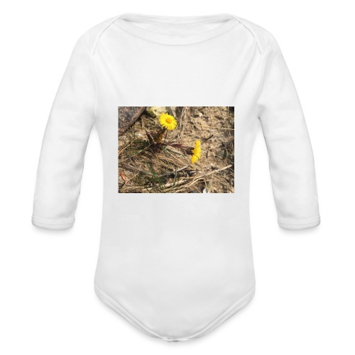 The Flower Shirt - Følfod - Langærmet babybody, økologisk bomuld