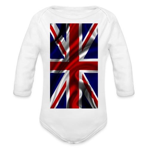 English flag - Organic Longsleeve Baby Bodysuit
