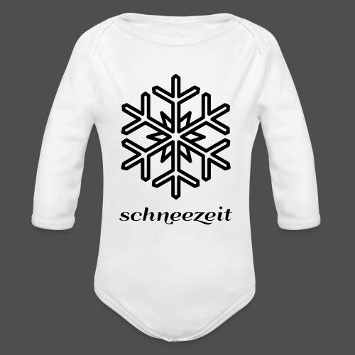 snowflake - Organic Longsleeve Baby Bodysuit