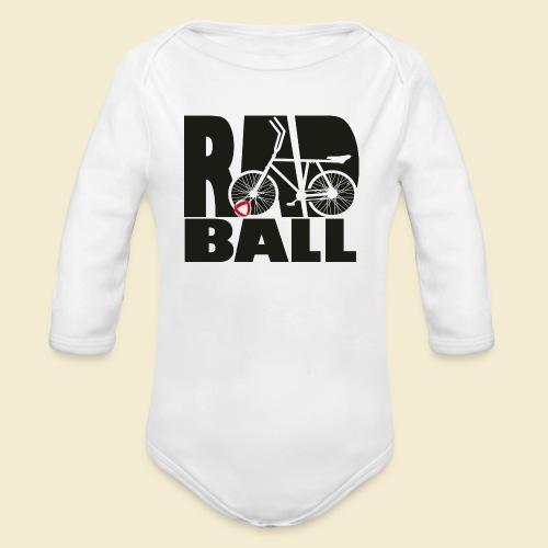 Radball | Typo Black - Baby Bio-Langarm-Body