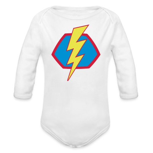 Superhelden Superhero Comic Blitz Symbol - Baby Bio-Langarm-Body