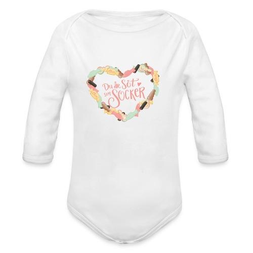 Söt som socker - Godis hjärta - Ekologisk långärmad babybody
