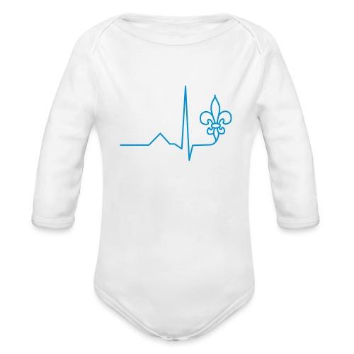 Scouts Heartbeat - Organic Longsleeve Baby Bodysuit