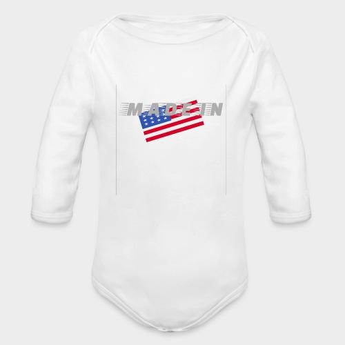 Made In USA - Organic Longsleeve Baby Bodysuit