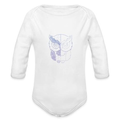 Eule - Baby Bio-Langarm-Body