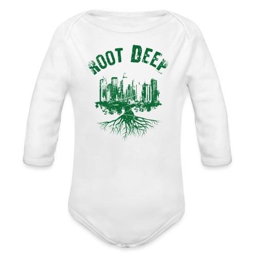 Root deep Urban grün - Baby Bio-Langarm-Body