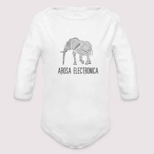 Elefant Schwarz - Baby Bio-Langarm-Body