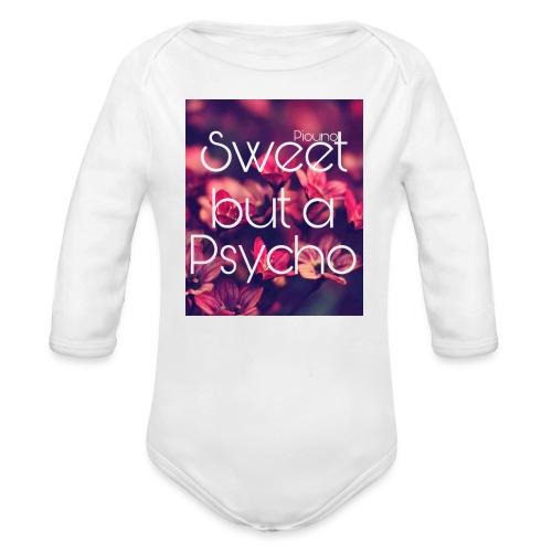 Piouno sweet but a psycho - Baby Bio-Langarm-Body