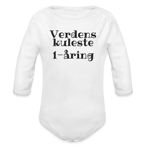 Verdens kuleste 1-åring - Økologisk langermet baby-body