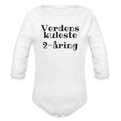 Verdens kuleste 2-åring - Økologisk langermet baby-body