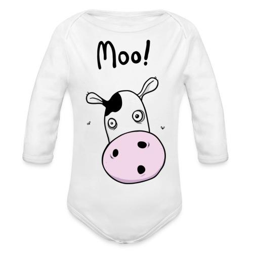 mooblack - Organic Longsleeve Baby Bodysuit