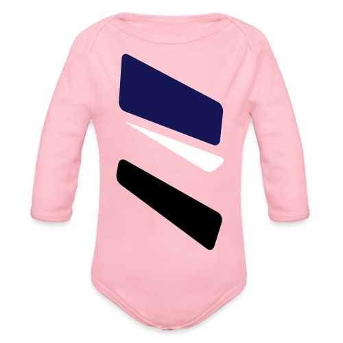 3 strikes triangle - Organic Longsleeve Baby Bodysuit