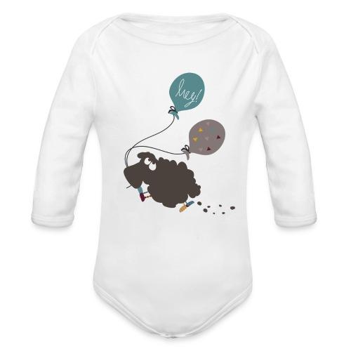 Schaf Elsbeth mit Luftballon - Baby Bio-Langarm-Body