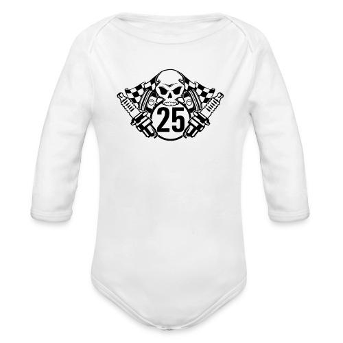 Logo wei schwarz - Baby Bio-Langarm-Body