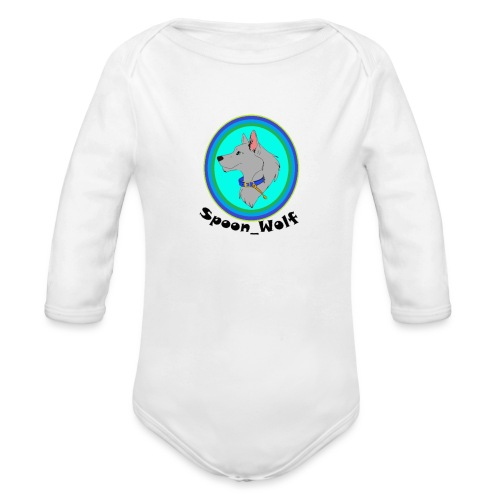 Spoon_Wolf_2-png - Organic Longsleeve Baby Bodysuit