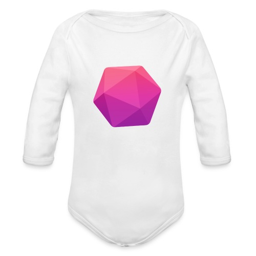 Pink D20 - D&D Dungeons and dragons dnd - Vauvan pitkähihainen luomu-body