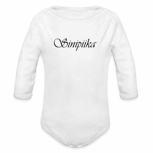 Sinipiika - Vauvan pitkähihainen luomu-body
