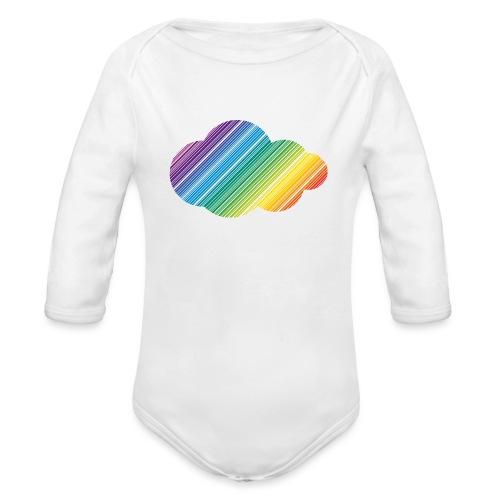 Regnbågsmoln - Ekologisk långärmad babybody