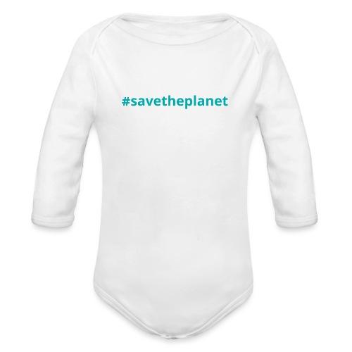 #savetheplanet - Body orgánico de manga larga para bebé