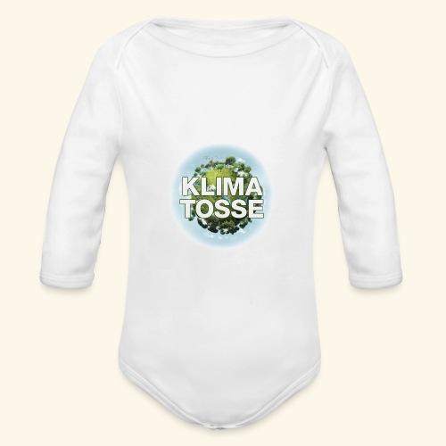 Klimatosse Klode - Langærmet babybody, økologisk bomuld