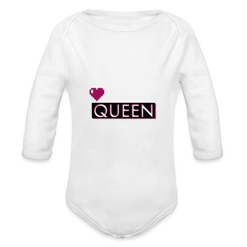 Queen, la regina - Body ecologico per neonato a manica lunga