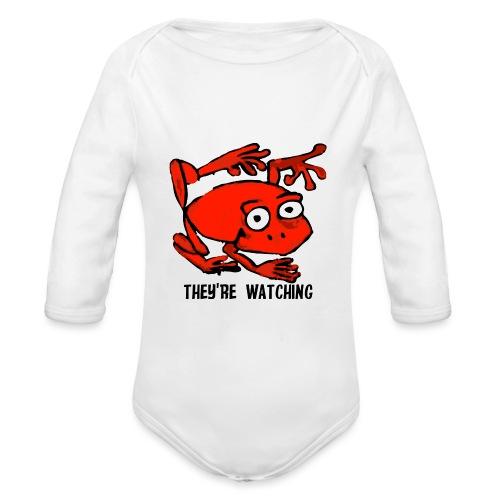 red frog - Body ecologico per neonato a manica lunga