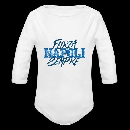 Forza Napoli Sempre - Body ecologico per neonato a manica lunga