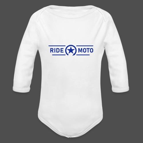 ride moto kill switch logo - Organic Longsleeve Baby Bodysuit