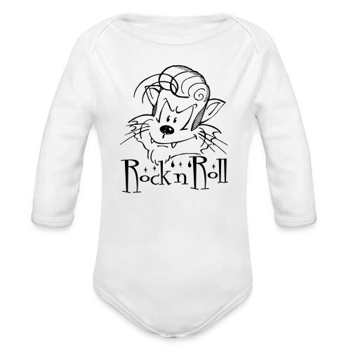 Rock'n'Roll Cat - Baby Bio-Langarm-Body