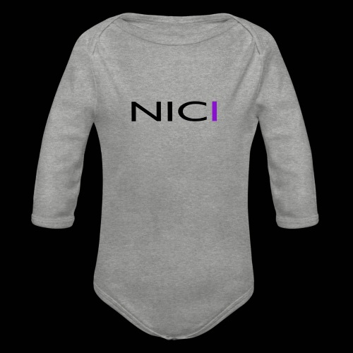 NICI logo Black - Vauvan pitkähihainen luomu-body