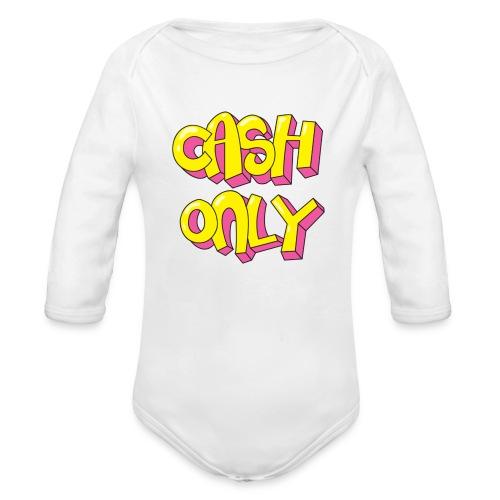 Cash only - Baby bio-rompertje met lange mouwen